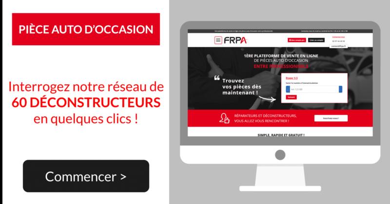FRPA, leader pour la vente de pièces de réemploi