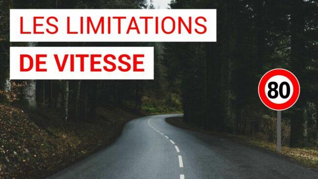 Les limitations de vitesse en France