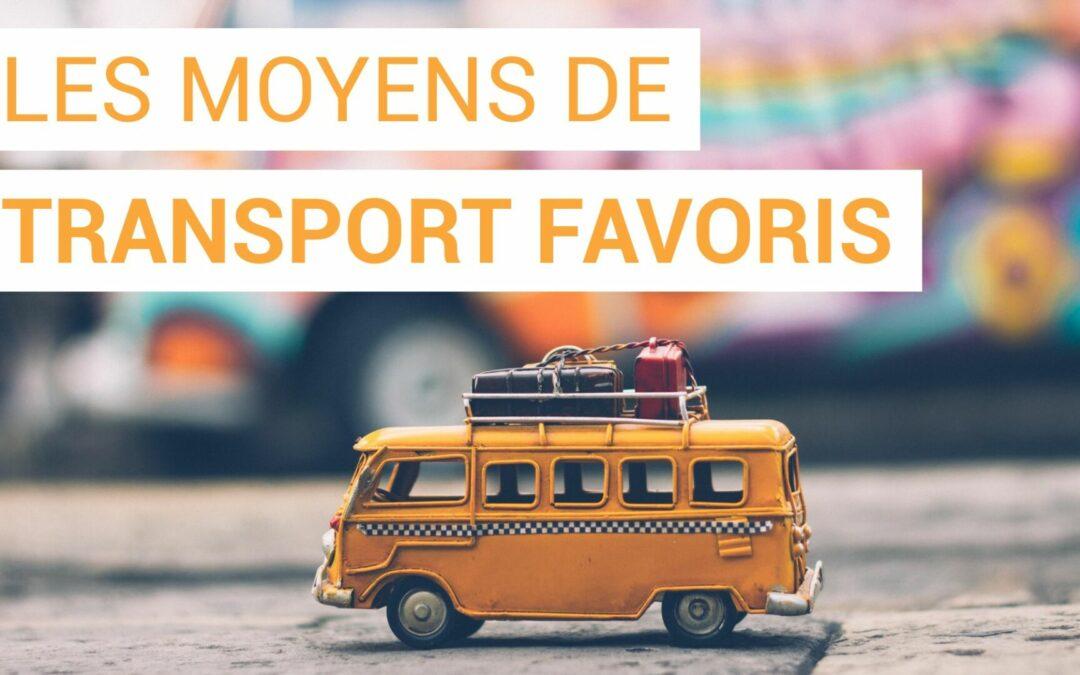 Les moyens de transport préférés des français